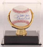 "Pete Rose Signed OML Baseball Inscribed ""Charlie Hustle"" with Display Case (JSA COA) at PristineAuction.com"