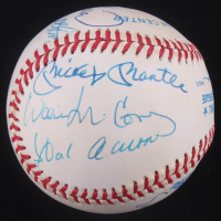 500 Home Run Club OAL Baseball Signed by (10) with Mickey Mantle, Ernie Banks, Willie Mays, Hank Aaron (Steiner COA) at PristineAuction.com