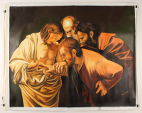 """Hector Monroy Signed """"The Incredulity of Saint Thomas"""" 33.5x41.5 Original Oil Painting on Canvas (PA LOA) at PristineAuction.com"""