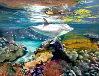 "Raul Basutro Signed ""Flipper Legend"" 31x39 Original Oil Painting on Canvas (PA LOA) at PristineAuction.com"