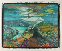 """Raul Basutro Signed """"Flipper Legend"""" 31x39 Original Oil Painting on Canvas (PA LOA) at PristineAuction.com"""