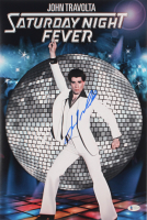"John Travolta Signed ""Saturday Night Fever"" 12x18 Photo (Beckett COA) at PristineAuction.com"