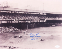 """Bobby Thomson Signed Giants """"The Shot Heard 'Round The World"""" 11x14 Photo Inscribed """"Oct. 3, 1951"""" (JSA COA) at PristineAuction.com"""