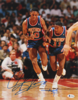 Isiah Thomas & Dennis Rodman Signed Pistons 11x14 Photo (Beckett COA) at PristineAuction.com