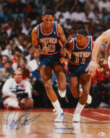 Isiah Thomas & Dennis Rodman Signed Pistons 16x20 Photo (Beckett Hologram) at PristineAuction.com