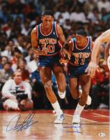 Isiah Thomas & Dennis Rodman Signed Pistons 16x20 Photo (Beckett COA) at PristineAuction.com