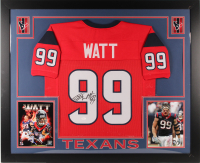 J. J. Watt Signed 35x43 Custom Framed Jersey (JSA COA) (Imperfect) at PristineAuction.com