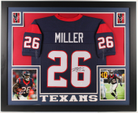 Lamar Miller Signed Texans 35x43 Custom Framed Jersey (JSA COA) (Imperfect) at PristineAuction.com