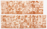 Set of (32) 1980 4 in 1 Western 3x5 Photo Cards with John Wayne, Gene Autry & Roy Rogers at PristineAuction.com