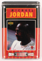 Michael Jordan 1996 Upper Deck All-Metal Collectors Tin of (5) Basketball Cards at PristineAuction.com