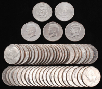 Lot of (50) Kennedy Half-Dollar Coins at PristineAuction.com