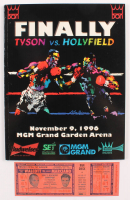 1996 Mike Tyson vs. Evander Holyfield Fight Program with Authentic Fight Ticket at PristineAuction.com