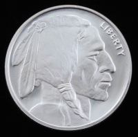"1 Troy Ounce .999 Fine Silver ""Buffalo Nickel"" Commemorative Bullion Round at PristineAuction.com"