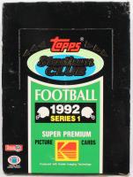 1992 Topps Stadium Club Football Series 1 Box at PristineAuction.com