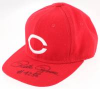 """Pete Rose Signed Reds MLB Fitted Baseball Hat Inscribed """"#4256"""" (JSA COA) at PristineAuction.com"""