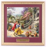 "Thomas Kinkade Walt Disney's ""Snow White and the Seven Dwarfs"" 16x16 Custom Framed Print Display at PristineAuction.com"