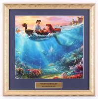 "Thomas Kinkade Walt Disney's ""The Little Mermaid"" 16x16 Custom Framed Print Display at PristineAuction.com"