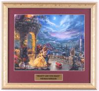 "Thomas Kinkade Walt Disney's ""Beuaty and the Beast"" 14.5x16.5 Custom Framed Print Display at PristineAuction.com"