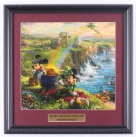 "Thomas Kinkade Walt Disney's ""Mickey & Minnie in Ireland"" 16x16 Custom Framed Print Display at PristineAuction.com"