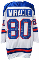 """Miracle On Ice"" Jersey Team-Signed by (18) with Jim Craig, Mike Eruzione, Ken Morrow, Dave Silk (Schwartz COA) at PristineAuction.com"