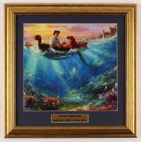 "Thomas Kinkade ""The Little Mermiad"" 17x17 Custom Framed Print Display at PristineAuction.com"