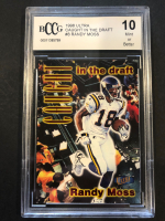 Randy Moss 1998 Ultra Caught in the Draft #8 (BCCG 10) at PristineAuction.com
