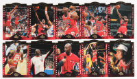 Set of (10) Michael Jordan Upper Deck All Die Cut Set Basketball Cards at PristineAuction.com