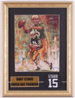 Bart Starr Signed Packers 12x16 Custom Framed Photo Display with Patch (PSA LOA) at PristineAuction.com