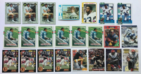 Lot of (23) Vintage Football Rookie Cards with 1972 Topps #13 John Riggins, 1978 Topps #315 Tony Dorsett, (2) 1990 Topps #27T Emmett Smith, (4) 1989 Topps #83T Barry Sanders at PristineAuction.com