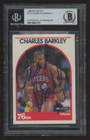 Charles Barkley Signed 1989-90 Hoops #110 (BGS Encapsulated) at PristineAuction.com
