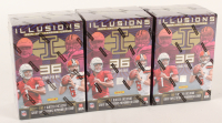 Lot of (3) 2019 Panini Illusions Football Boxes with (36) Cards Each at PristineAuction.com