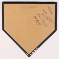 Baseball Greats Home Plate Signed By (5) With Willie Mays, Hank Aaron, Harmon Killebrew, Frank Robinson With Multiple Inscriptions (JSA ALOA, Tristar Hologram & Steiner Hologram) at PristineAuction.com