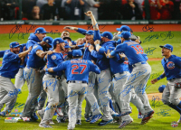 2016 Cubs World Series Champions 20x24 Photo Team-Signed by (26) with Kris Bryant, Anthony Rizzo, Ben Zobrist, Theo Epstein (Schwartz COA & Fanatics Hologram) at PristineAuction.com