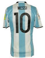 Lionel Messi Game-Used Argentina WC Qualifier Jersey (100% Authentic LOA) at PristineAuction.com