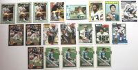 Lot of (20) Vintage Football Rookie Cards with (4) 1989 Topps Traded Barry Sanders #83T RC 1972 Topps #13 John Riggins, 1972 Topps #65 Jim Plunkett, 1978 Topps #315 Tony Dorsett, 1990 Topps Traded #27T Emmitt Smith at PristineAuction.com