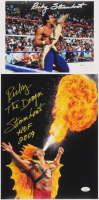 "Lot of (2) Ricky ""The Dragon"" Steamboat Signed WWE Flats With 11x14 Photo & 8x10 Photo Inscribed ""HOF 2009"" (JSA COA) at PristineAuction.com"