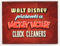 "Vintage LE Disney ""Mickey Mouse Clock Cleaning"" Pin Set with Case at PristineAuction.com"