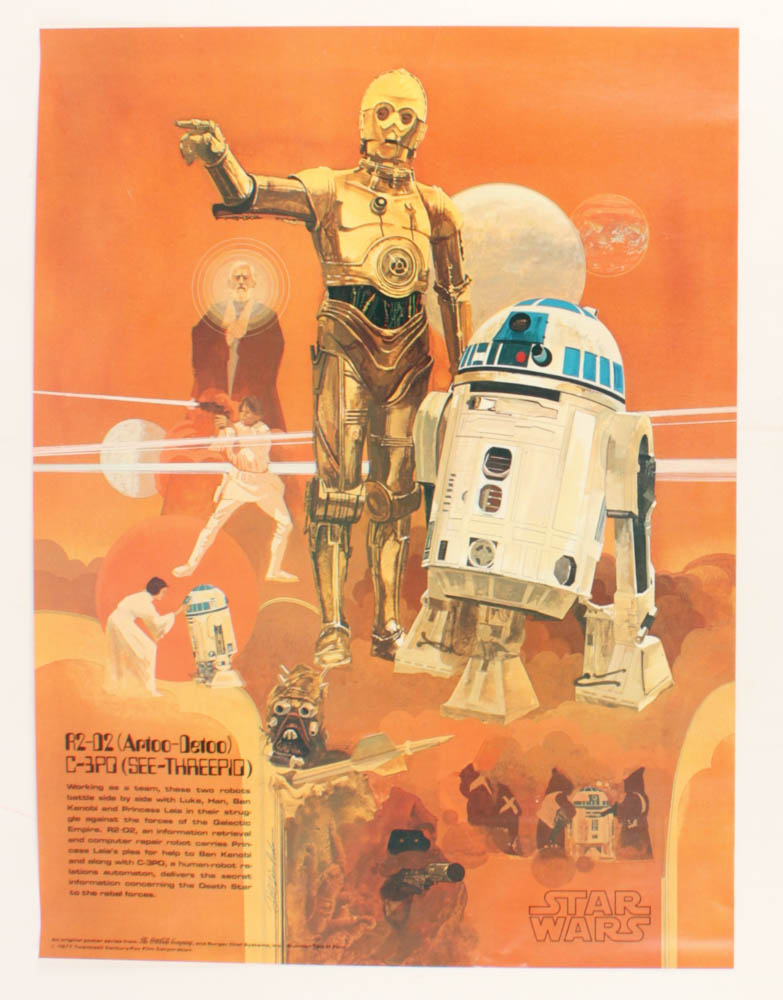 """Vintage 1977 Coca-Cola """"Star Wars"""" 18x24 Promotional Poster at PristineAuction.com"""