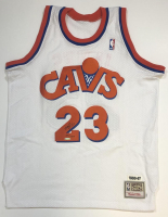 LeBron James Signed LE Cavaliers Throwback Jersey (UDA COA) at PristineAuction.com