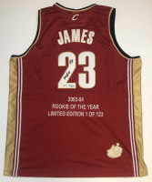 "LeBron James Signed LE Cavaliers Stat Jersey Inscribed ""ROY 04"" (UDA COA) at PristineAuction.com"
