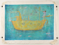 """Isis Dora Signed """"Ship of the Seas"""" 24x32 Original Oil Painting on Canvas (PA LOA) at PristineAuction.com"""