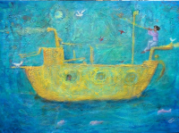 "Isis Dora Signed ""Ship of the Seas"" 24x32 Original Oil Painting on Canvas (PA LOA) at PristineAuction.com"