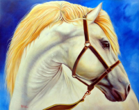 "Manuel Rosas Signed ""Free Spirit"" 35.5x42.5 Original Oil Painting on Canvas (PA LOA) at PristineAuction.com"