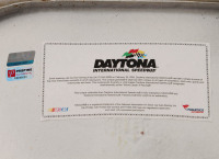 Denny Hamlin Signed Original Daytona International Speedway Seat Back (Fanatics COA & PA COA) at PristineAuction.com