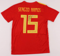 Sergio Ramos Signed Spain National Team Jersey (Beckett COA) at PristineAuction.com