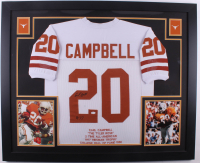"""Earl Campbell Signed 35x43 Custom Framed Jersey Inscribed """"HT 77"""" (JSA COA) (Imperfect) at PristineAuction.com"""