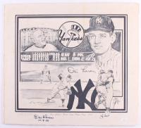 "Yogi Berra & Don Larsen Signed Yankees 22x24 Print On Poster Board Inscribed ""10 - 8 - 56"" (JSA Hologram) at PristineAuction.com"