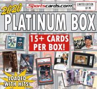 "Sportscards.com 2020 ""PLATINUM BOX"" All Sport Mystery Sports Cards Box 15+ HITS Per Box! at PristineAuction.com"