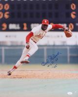 "Bob Gibson Signed Cardinals 16x20 Photo Inscribed ""MVP 68"" (JSA COA) at PristineAuction.com"