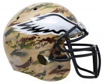 """Jason Kelce Signed Eagles Full-Size Authentic On-Field Camo Helmet Inscribed """"Hungry Dogs Run Faster!"""" (JSA COA) at PristineAuction.com"""